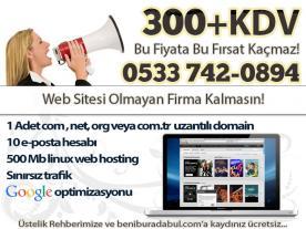 Şok Kampanya<br />300 TL'ye Web Sitesi!